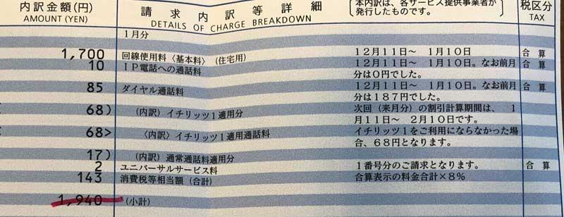 NTT明細