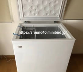 Haierハイアール(中国製)上開き式家庭用冷凍庫(霜取り)を一年間使ってみた感想 145L チェストタイプ 冷凍庫(フリーザー)直冷式 ホワイト  JF-NC145F(W)
